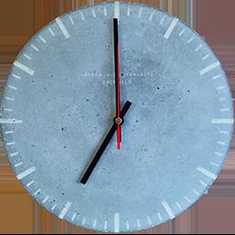 A concrete clock