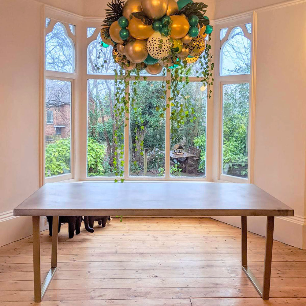 A bespoke dining table