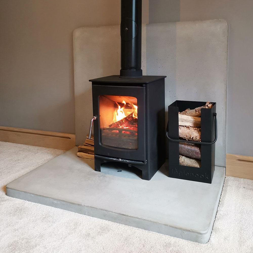 A stunning fireplace